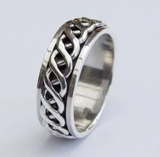 celtic rings mens 925 sterling silver ring 8mm hallmarked heavy celtic