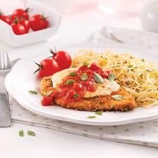 idee recette cuisine escalopes de poulet parmigiana recettes cuisine et nutrition