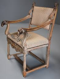 Oak Armchair Late 19thc Highly Decorative French Limed Oak Armchair In The