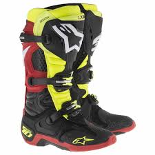 bike racing boots off road dirt bike atv racing new alpinestars tech green graphics