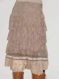 Shabby Chic Skirts by Shabby Chic Victorian Skirt Cream Embroidered Taffeta Lace Eyelet