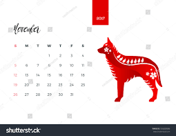 modern animals chinese zodiac 2017 monthly stock vector 556830586