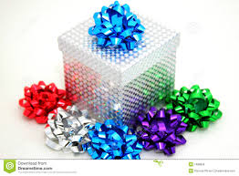 bows for gift boxes sparkling gift box and bows stock photo image of square colors
