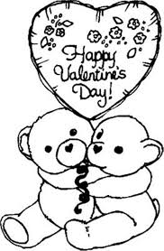 bears happy valentine coloring page valentine coloring pages of