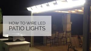 Outdoor Led Patio Lights How To Add Outdoor Patio Lighting Using Led Lights
