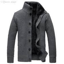 2017 wholesale cardigan sweater button mens cotton turtleneck