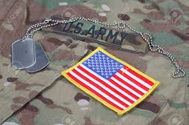 Army Uniform Flag Patch Us Army Camouflaged Uniform With Us Flag Patch And Blank Dog