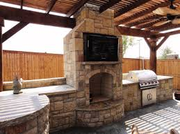 Outdoor Kitchen Blueprints Outdoor Kitchen And Fireplace Designs
