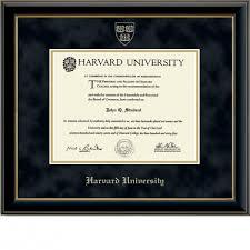 harvard diploma frame gold embossed diploma frame in onyx gold