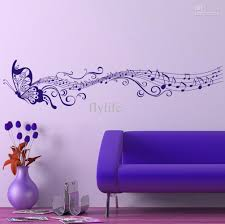home decor walls large singing purple butterfly wall stickers home decor art