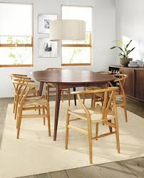 ventura dining table wishbone chairs by r u0026b modern dining