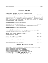 Plumbing Resume Examples by Cunningham James Mep Project Mgr Resume
