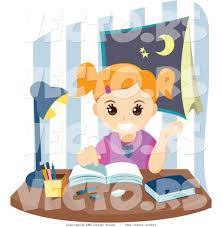 homework design studio vector of happy school girl doing homework by bnp design studio 3051