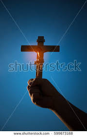 silhouette jesus christ on cross background stock photo 721553068