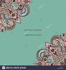 Invitation Card With Photo Vintage Invitation Card With Lace Paisley Ornament Pastel Colors