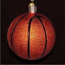 basketball glass personalized ornaments by