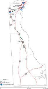 delaware road map usa map of delaware