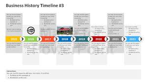 powerpoint timeline slide template business history timeline