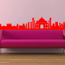 the indian skyline wall vinyl sticker art poster easy peel the indian skyline wall vinyl sticker art poster