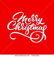merry christmas xmas brushpen lettering handwritten stock vector
