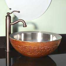 copper vessel bathroom sinks with glistening garden double wall