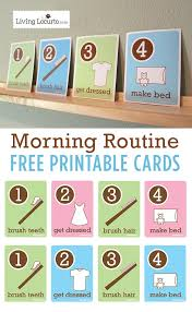 free cards kid s morning routine flash cards free printables