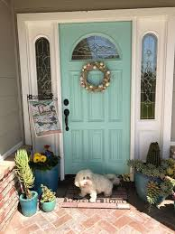 Kelly Green Door With Brass Hardware Interiors by Best 25 Aqua Front Doors Ideas On Pinterest Teal Door Teal