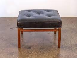 ottoman black leather tufted ottoman coffee table black tufted