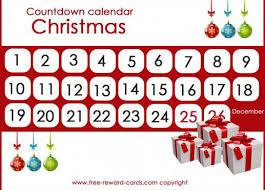 free christmas countdown calendar for kids calendar template 2017