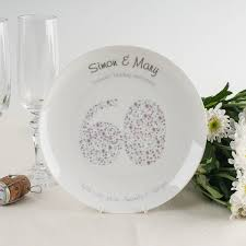 60th wedding anniversary plate top your other half s present with these amazing anniversary gift