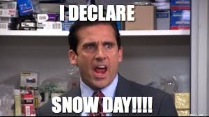 Snow Day Meme - a snow day guide as told by the office