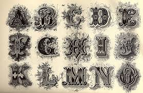 decorative alphabet typography fonts and calligraphy