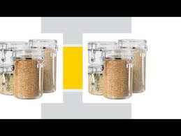 buy oggi 4 piece acrylic canister set with airtight lids and