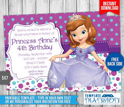 sofia the first birthday invitation 4 by templatemansion on
