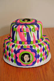 neon birthday cake cakecentral com