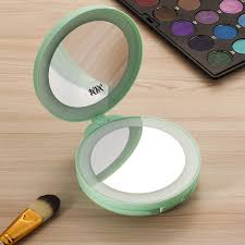 assis led lighted makeup mirror folding led travel mirror 1x and 5x magnifying makeup mirror with