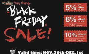 black friday is coming u7buy discount code u20135 6 10 off for black friday sale