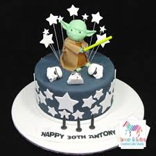 yoda cake topper cakes sydney wars cupcakes