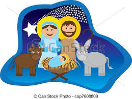 eps vectors of christmas nativity scene with holy family isolated