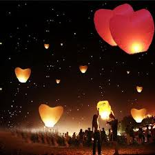 candle balloon heart sky lanterns paper sky candle balloons for