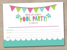 extraordinary summer pool party invitations for girls all rustic