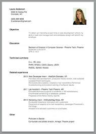 Objective In Resume For Internship Sample Resume For Internship In Computer Science Software