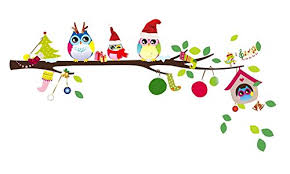 owl christmas christmas monkey and owl christmas owl on branches