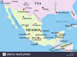 Zacatecas Mexico Map by Mexico 19th Century Stock Photos U0026 Mexico 19th Century Stock