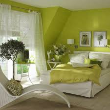 Green Wall Color White Curtains In The Cozy Bedroom Chambre - Bedroom color green