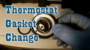 how to change the thermostat gasket street triple maintenance