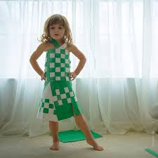 dress pattern 5 year old 4 year old girl creates stylish paper dresses together with her mother