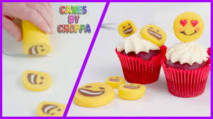 magic emoji rolled fondant cupcake toppers how to youtube