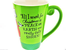 funky coffee mugs online all i want for christmas is peace on earth really cute shoes