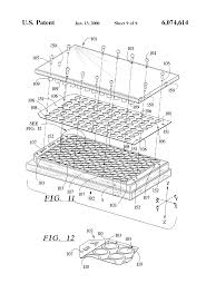 patent us6074614 multi assay plate cover for elimination of